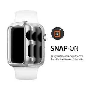 For Apple Watch Series 3 Snap On Bumper Hard Case Cover+Screen Protector 38/42mm
