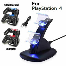 Load image into Gallery viewer, For PS4 PlayStation4 Controller Dual USB Charger LED Dock Station Charging Stand