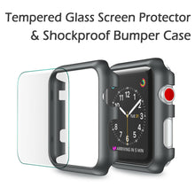 Load image into Gallery viewer, For Apple Watch Series 3 Snap On Bumper Hard Case Cover+Screen Protector 38/42mm