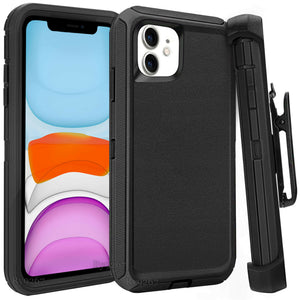 For iphone 11 Case Cover w/Screen & Clip fit Otterbox Defender