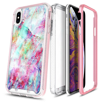For iPhone Xs Max XR Xs X Case Slim Thin Cover With Built-In Screen Protector