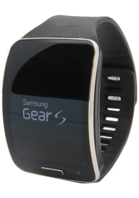 Samsung Galaxy Gear S SM-R750 Curved Smart Watch Black Works on Wifi & T-Mobile