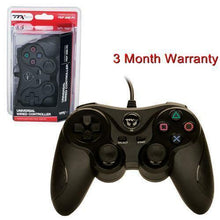 Load image into Gallery viewer, TTX Tech PC and PlayStation 3 PS3 USB Wired Controller BLACK Brand New