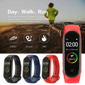 M4 Smart Watch Band Heart Rate Blood Pressure Monitor Tracker Fitness Wristband