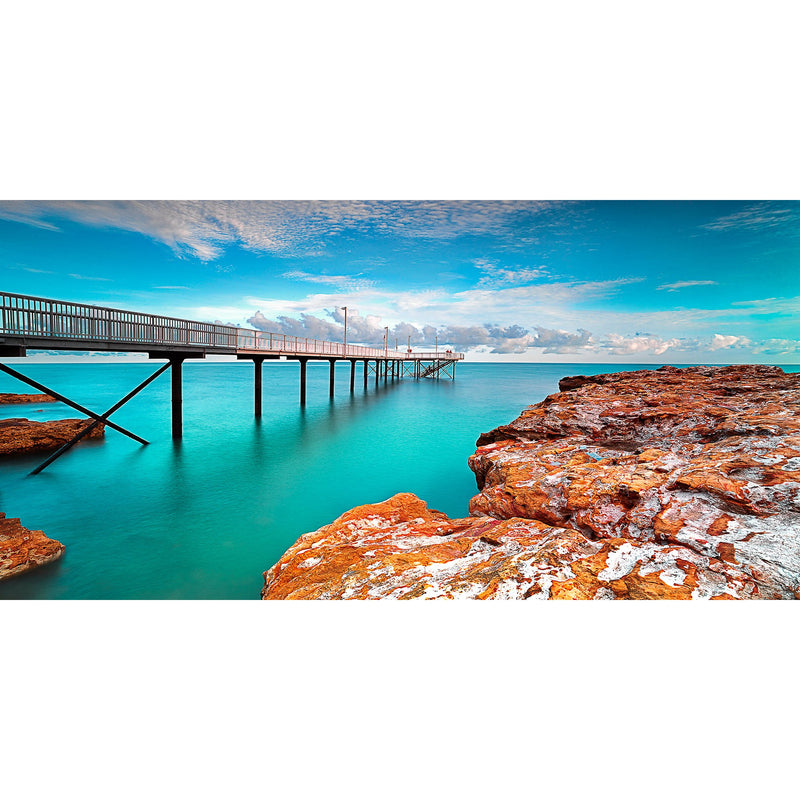 Blue waters of A hight tide at Nightcliff Jetty