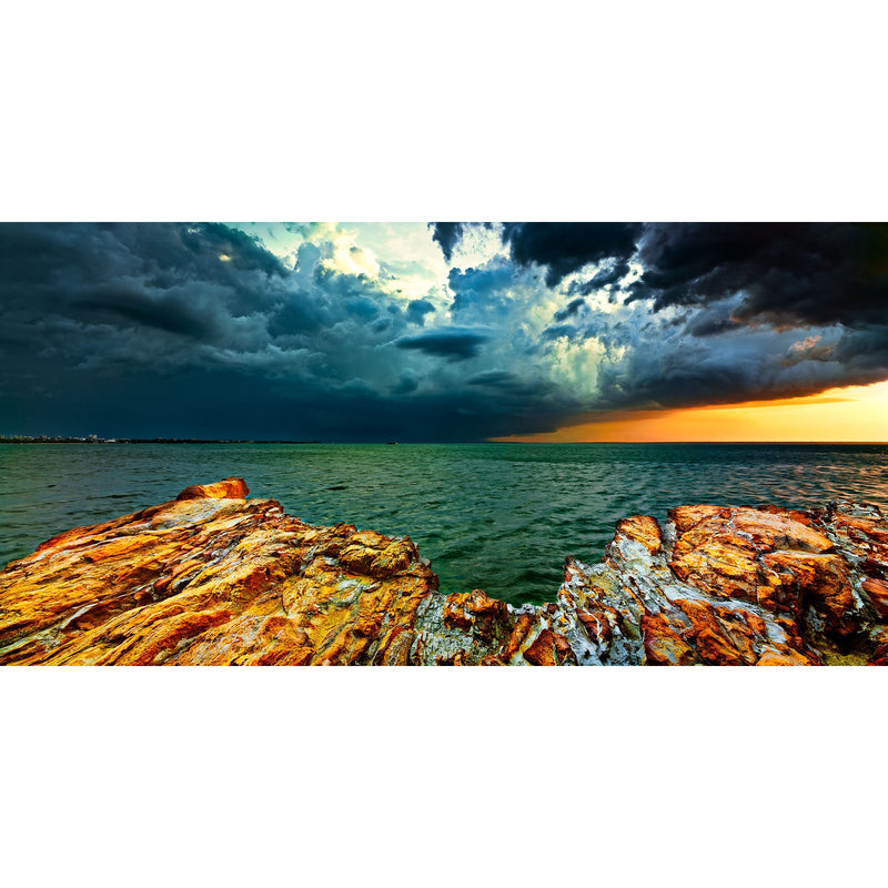 Stormy skies over Darwin City and Fannie Bay