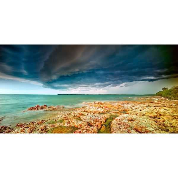 Shelf cloud over Nightcliff viewed from East Point