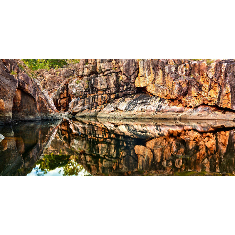 Perfect reflections from the gorge face of the upper pools at Gunlom, Kakadu National Park.