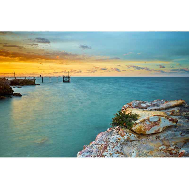 Yellow sunset at Nightcliff Jetty