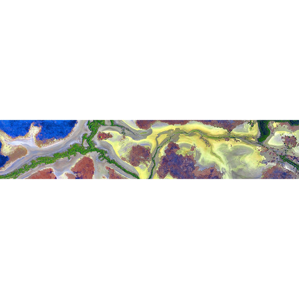 Purples, blues and yellows highlight the floodplains and tributaries of the South Alligator River