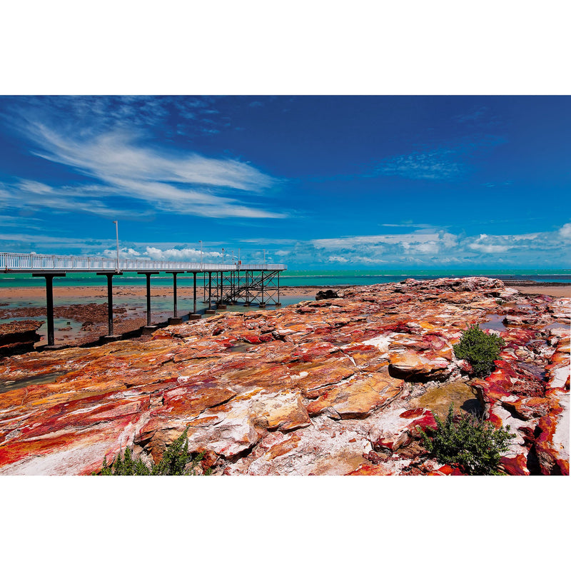 Nightcliff Jetty at a King low tide