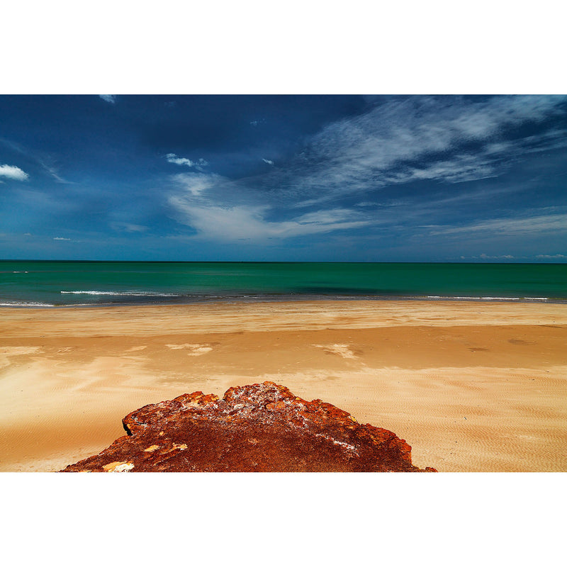 Yellow beach sands, sand stop cliffs and blue waters make up Casuarina Bech and Dripstone Cliffs.