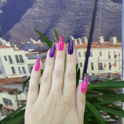 pink & purple glass press-on nails