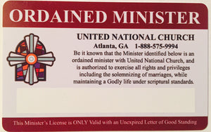 Minister Pocket Card