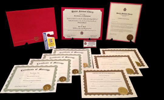 Wedding Officiant Package United National Ministry