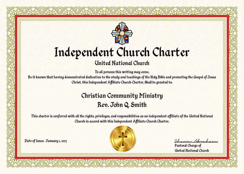 Complete ministry church charter package united for How do i get ordained to perform wedding ceremonies