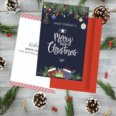 Merry Christmas Greeting Card - Simply Tiffany Chalk