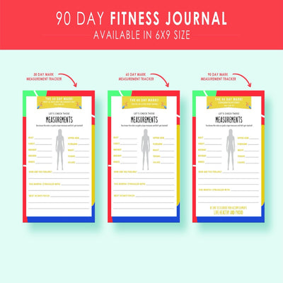 Let's Get Physical 90-day Fitness Journal - Simply Tiffany Chalk