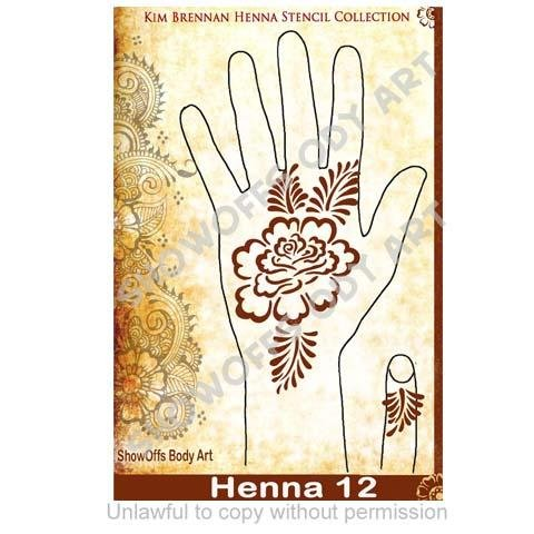 Henna Stencil 12 - SOBA - ShowOffs Body Art