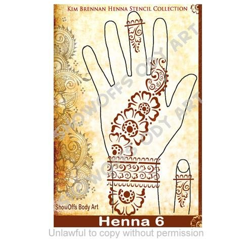 Henna Stencil 6 - SOBA - ShowOffs Body Art