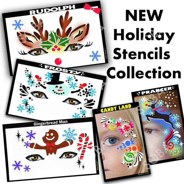Holiday Stencil Collection - SOBA - ShowOffs Body Art