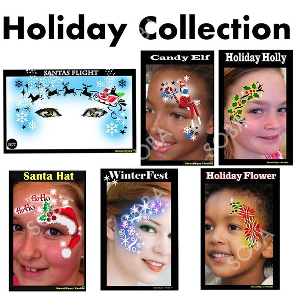Holiday Stencil Package Deal - SOBA - ShowOffs Body Art