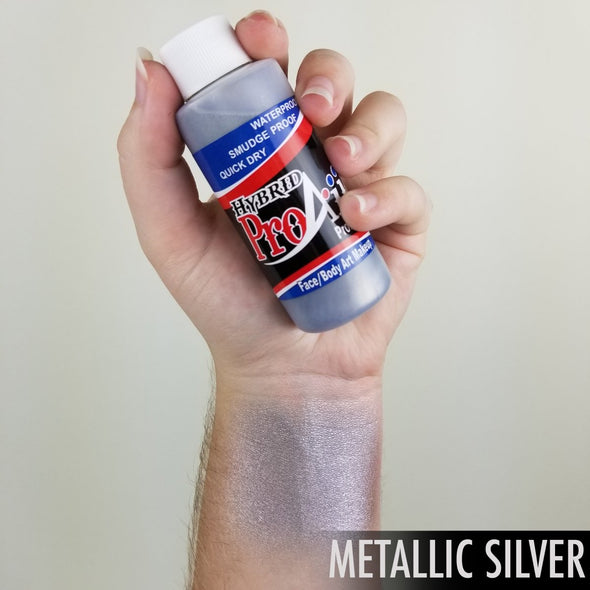 Metallic Silver Hybrid - SOBA - ShowOffs Body Art