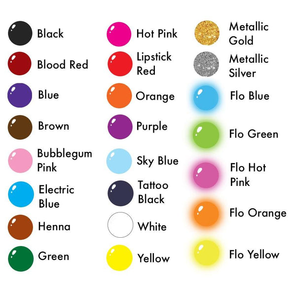 Pick 6 INK Colors - SOBA - ShowOffs Body Art