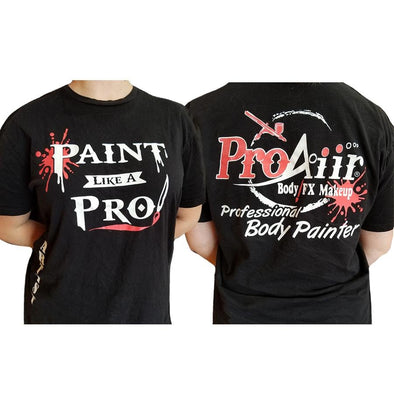 ProAiir Artist Tee Shirt Black - SOBA - ShowOffs Body Art