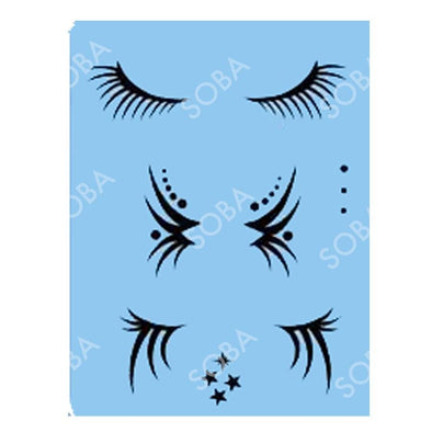 QEZ16 Eye Lashes - SOBA - ShowOffs Body Art