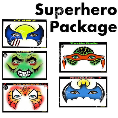 SuperHeros 5 Package - SOBA - ShowOffs Body Art