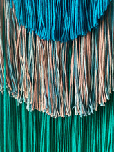 Load image into Gallery viewer, Handmade Fiber Wall Hanging Teal