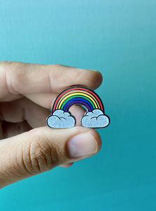 Rainbow Clouds Pride Pin