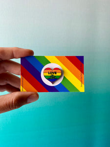Love is Love Pride Pin