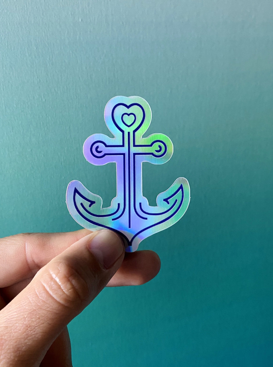 Anchor Holographic Sticker