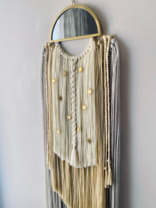 Handmade Fiber Wall Hanging Cream Dream