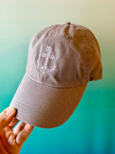 Load image into Gallery viewer, Anchor Hat Grey