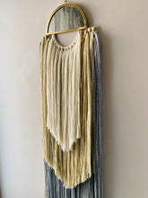 Load image into Gallery viewer, Handmade Fiber Wall Hanging Cream Grey