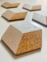 Load image into Gallery viewer, Geometric Hexagon Cork Coasters White
