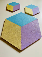 Load image into Gallery viewer, Hexagon Pin Display Cork Board Trivets Pastel
