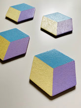 Load image into Gallery viewer, Geometric Hexagon Cork Coasters Pastel