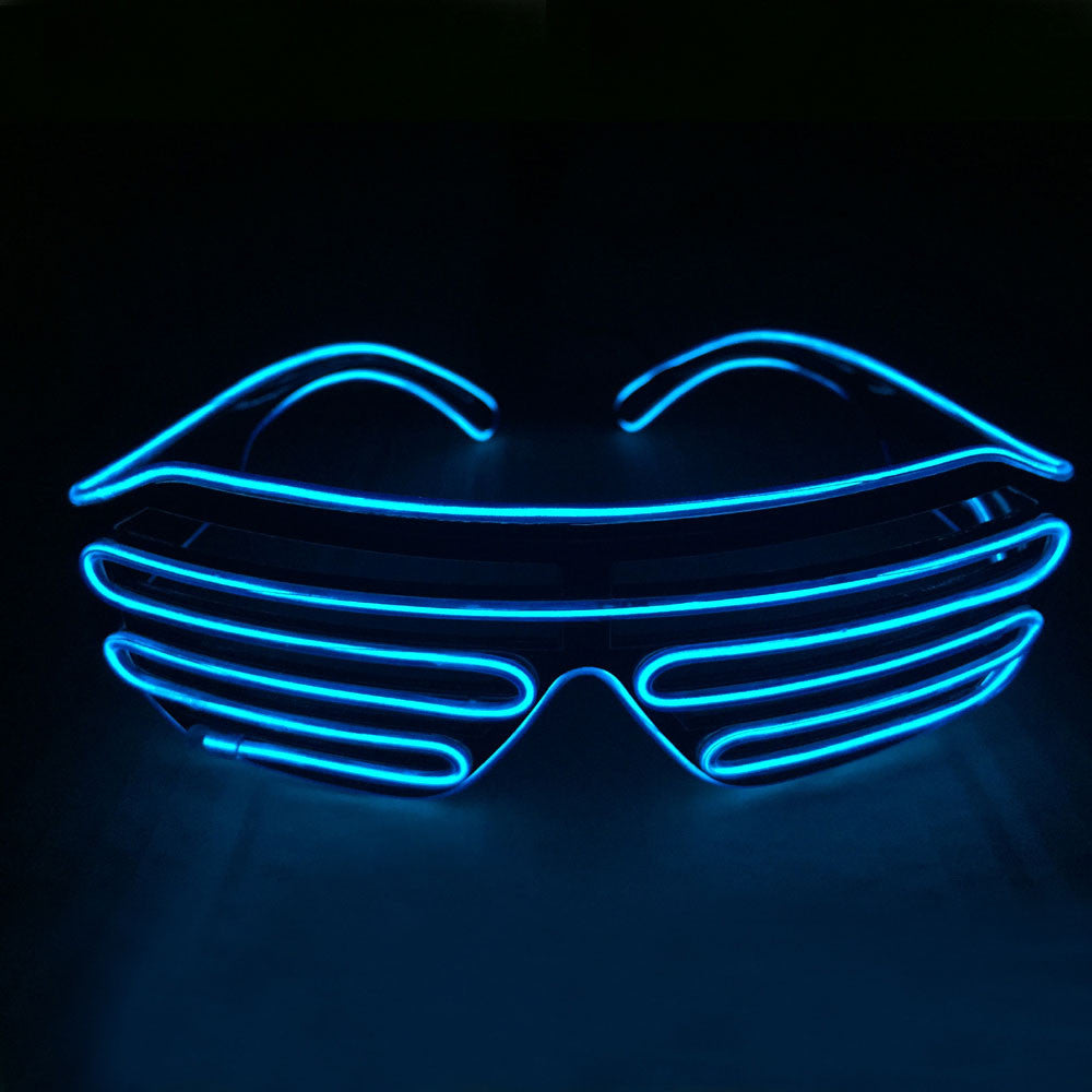 4d821c9252d ... El Wire Fashion Neon LED Light Up Shutter Shades - Festival Gear - 6 ...
