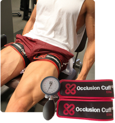 Occlusion Cuff Elite used on upper legs