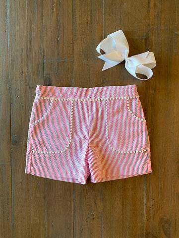 Pompom Trim in White or Pink