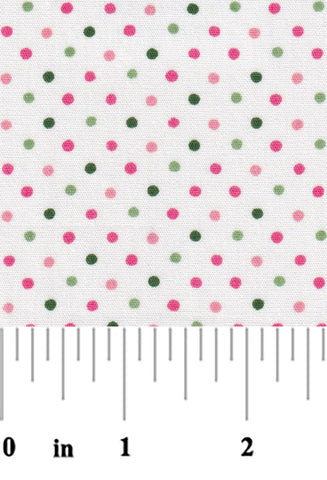 Pink and Green Polka Dot