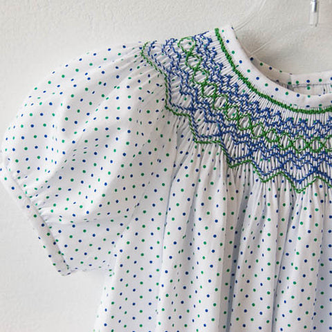 Blue and Green Polka Dots