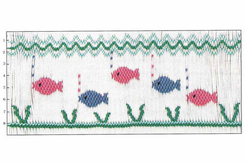 Children's Corner Amber's Fish Smocking Plate