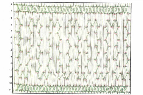 Children's Corner Clover Chain Smocking Plate
