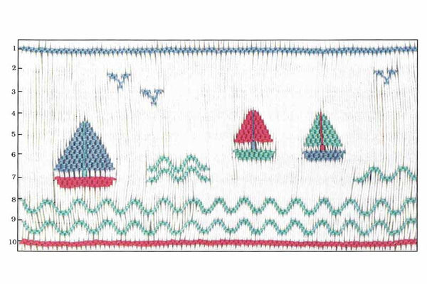 Children's Corner Sails Smocking Plate