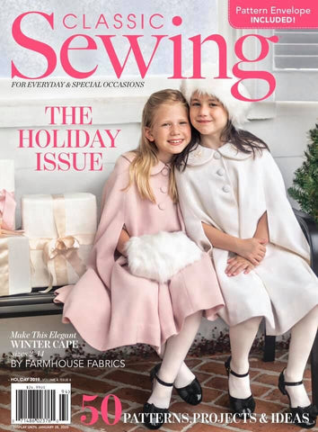 Classic Sewing Magazine - Holiday 2019